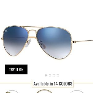 Rayban Blue Gradient with Gold Frame